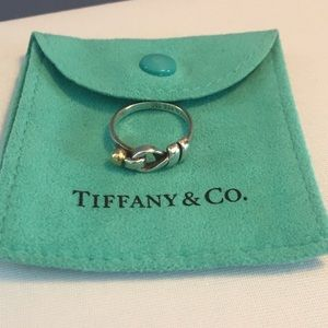 Tiffany & Co. retired hook and eye ring